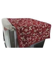 decor bazaar maroon floral design fridge top cover buy decor