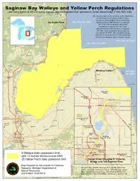 Michigan River Map by Walleye Season Ending For Saginaw River And Michigan Inland Waters