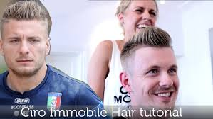 ciro immobile inspired hairstyle men u0027s football player haircut