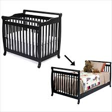 Crib Bed Convertible Davinci Emily Mini 2 In 1 Convertible Crib With Bed Rails In