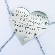 friendship heart sted friendship puzzle necklaces shaped like a heart