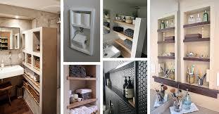 bathroom built in storage ideas 25 best built in bathroom shelf and storage ideas for 2018