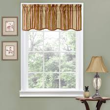 Beaded Curtains At Walmart by Traditions By Waverly Stripe Ensemble Scalloped Window Valance