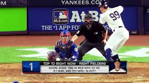 Aaron Judge Yankees Slugger Becomes Tallest Center Fielder - aaron judge 2018 spring training debut mlb com