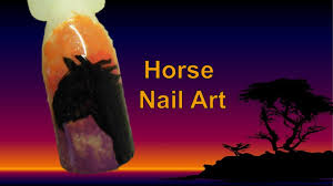 easy free hand horse nail art tutorial youtube