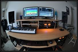 recording studio workstation desk best home studio design ideas images interior design ideas