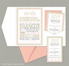 blush and gold wedding invitations blush and gold wedding invitation set jeneze designs