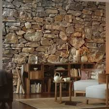 Stone On Walls Interior Stone Wall Mural Foter