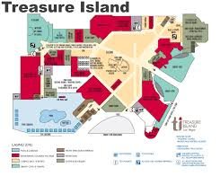 Las Vegas Map Hotels by Las Vegas Treasure Island Hotel Map