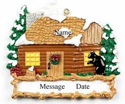 buy cabin ornament personalized ornament from a large
