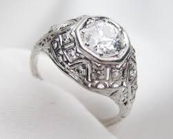 art deco domed filigree diamond ring circa 1920s engagement ring