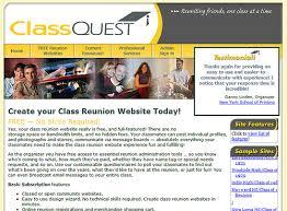 class reunions website classquest review for building a class reunion website