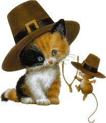 thanksgiving clipart kitten pencil and in color thanksgiving
