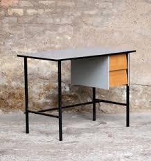 bureau ecolier bois petit bureau ancien écolier en bois et métal