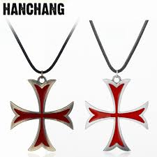 mens cross chain necklace images Medieval jewelry mens necklace stainless steel vintage knights jpg