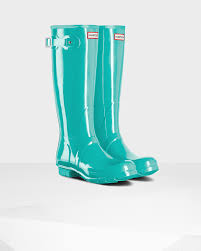 womens boots green s original gloss boots in green lyst