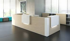 L Shape Reception Desk L Shape Reception Desk Chestnut White Buy At Best
