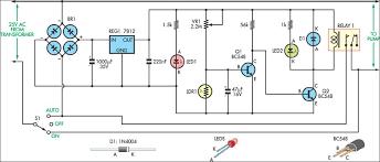 photocell sensor automatic light control switch light controlled pond pump circuit diagram