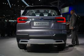 subaru suv concept interior subaru ascent concept previews brand u0027s next 3 row crossover