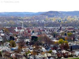 Lancaster Ohio Map by Rising Park The View From Mount Pleasant Trekohio