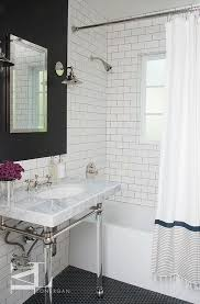 Restoration Hardware Shower Curtains Designs Tub With Fringed Shower Curtain Contemporary Bathroom