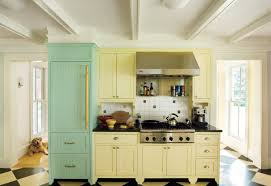 Two Colour Kitchen Cabinets Green Paint In Kitchen Rigoro Us
