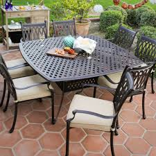 Patio Table Lowes Dining Tables Lowes Outdoor Decor Shop Brown Rectangle Patio