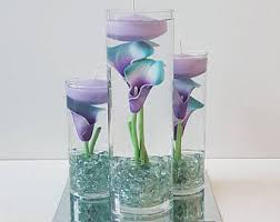 Candle Centerpiece Wedding Wedding Centerpiece Floating Candle Centerpiece Purple