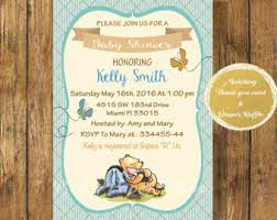 winnie the pooh baby shower invitations baby shower invitation templates classic winnie the pooh baby