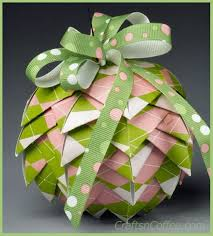 make favorite paper pine cone ornaments in punchy pink papers