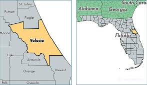Florida Map Of Cities And Counties Volusia County Florida Map Of Volusia County Fl Where Is