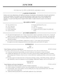 sample dba resume resume for database administrator free resume example and resume templates database administrator