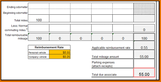 mileage reimbursement form template it resume cover letter