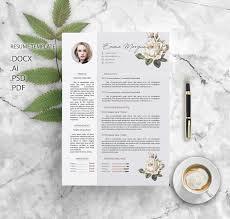 Resume Sample Format Docx by Flower Resume Template Cv Template Letterhead Simple Resume