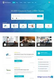 bootstrap sites templates 10 best coupon website template 2018 frip in