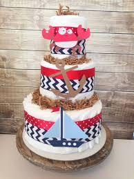 nautical diaper cake for boys nautical theme baby shower