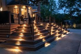 deck overhead lighting solar deck lighting options pool deck