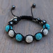 shamballa bracelet jewelry images Brittany 39 s blue disco shamballa bracelet avalee 39 s glamour jpg