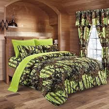 Bed Sets Amazon Com The Woods Neon Green Lime Camo Comforter Sheet U0026 4