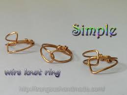 beginner earrings simple wire knot ring handmade jewelry for beginner 324