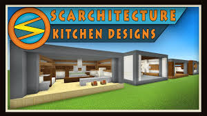 minecraft five modern kitchen designs scarchitecture ep 1 youtube