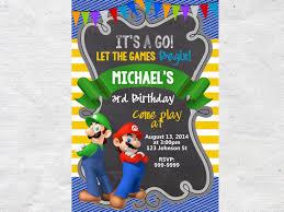 super mario bros party invitations cimvitation