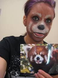 Panda Makeup For Halloween Red Panda By Cupcaaake On Deviantart Halloween Makeup Deeeyewhys