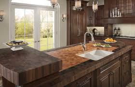 butcher block countertop black granite countertop beige granite