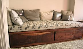 bedroom diy home project with comfortable daybed with storage