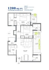 standard floor plan bhk sq ft customized 1200 square foot house