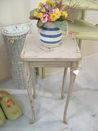 shabby chic side table lovely small side table with long elegant legs vintage item solid