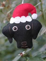 labrador retriever ornament needle felted black lab by kaysk9s