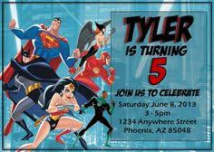 justice league party birthday customized justice league