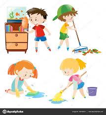 kids chores stock vectors royalty free kids chores illustrations